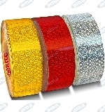 WHITE REFLECTIVE TAPE FOR HARD SURFACES 50MMX25M
