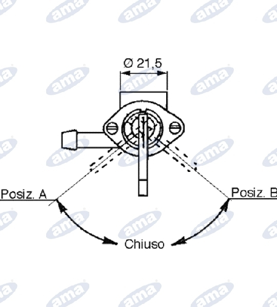 05094-TAP-FOR-PETROL-AND-OIL-TANKS-9-BOLT-6MA