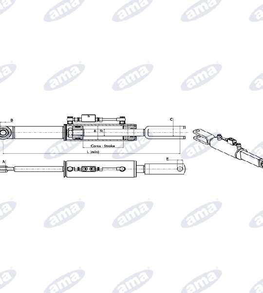 36992-HYDRAULIC-SIDE-ARM-080X040X0190
